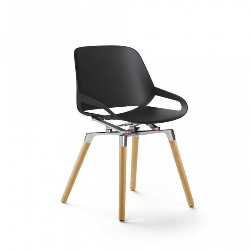 Chaise design AERIS Numo avec Pieds en bois de chêne - 1