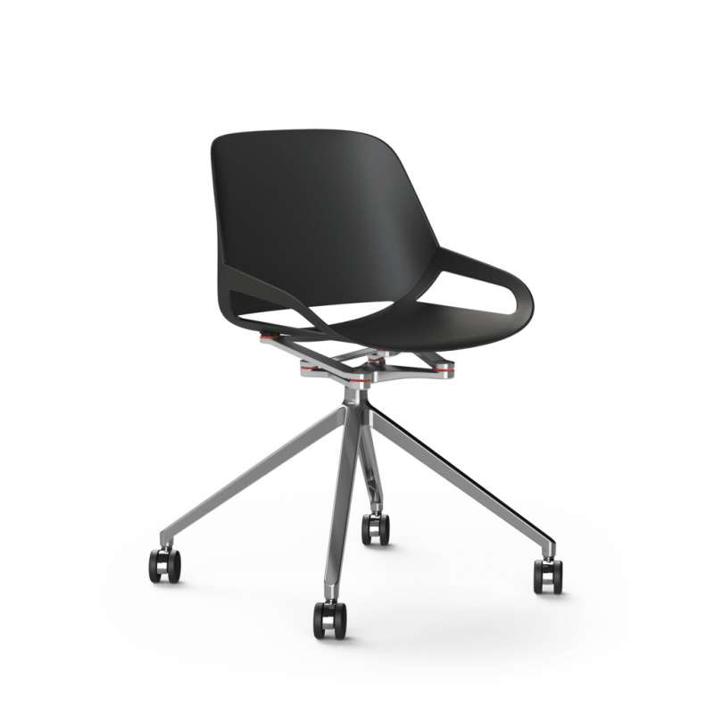 Chaise design AERIS Numo avec Planeur à roulettes - 1