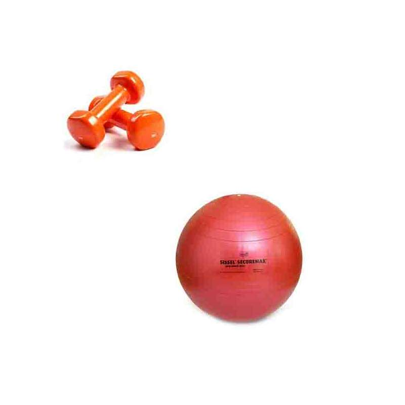 Pack Fitness (Ballon + Haltères) - 1