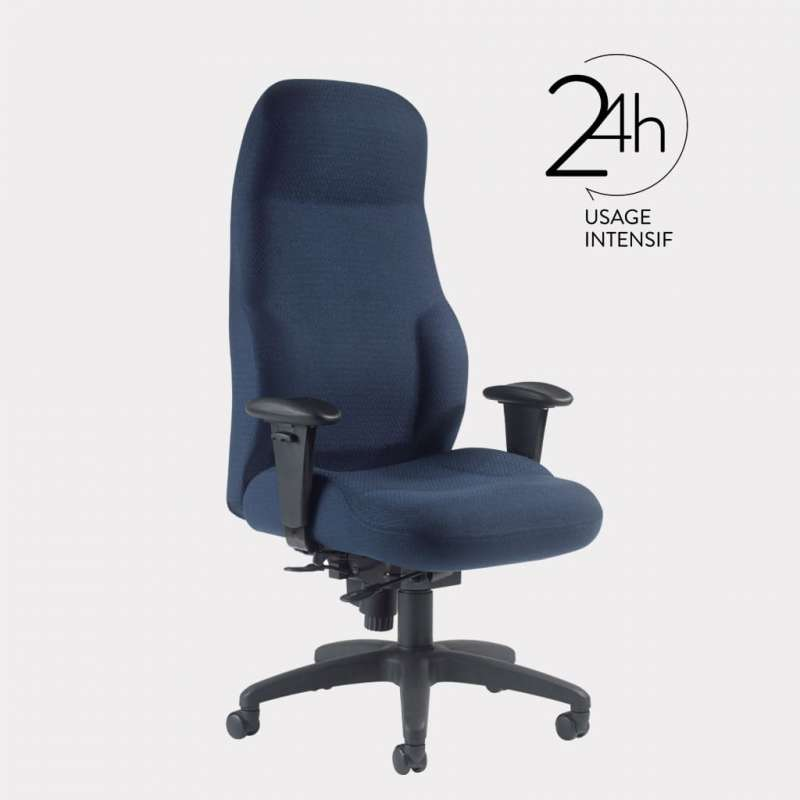 Fauteuil de bureau ergonomique GGI MAXIMA 24h - 1