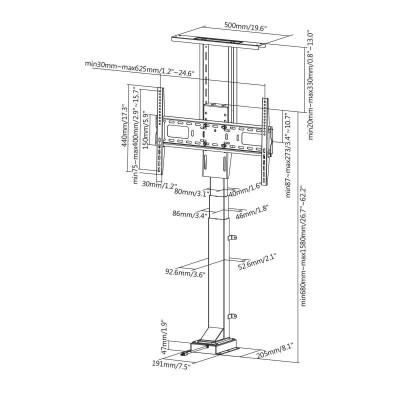 Support ascenseur motorisé pour écran TV 49´´- 65´´ - 2
