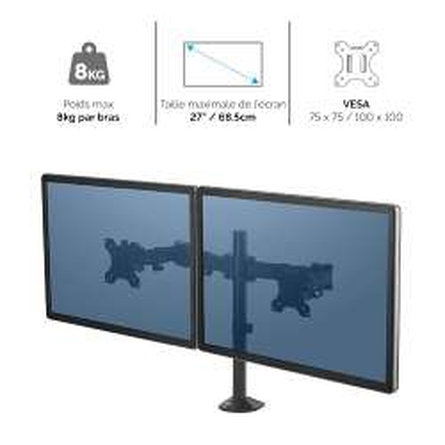 Bras porte-écran double Fellowes Reflex 8502601 - 2