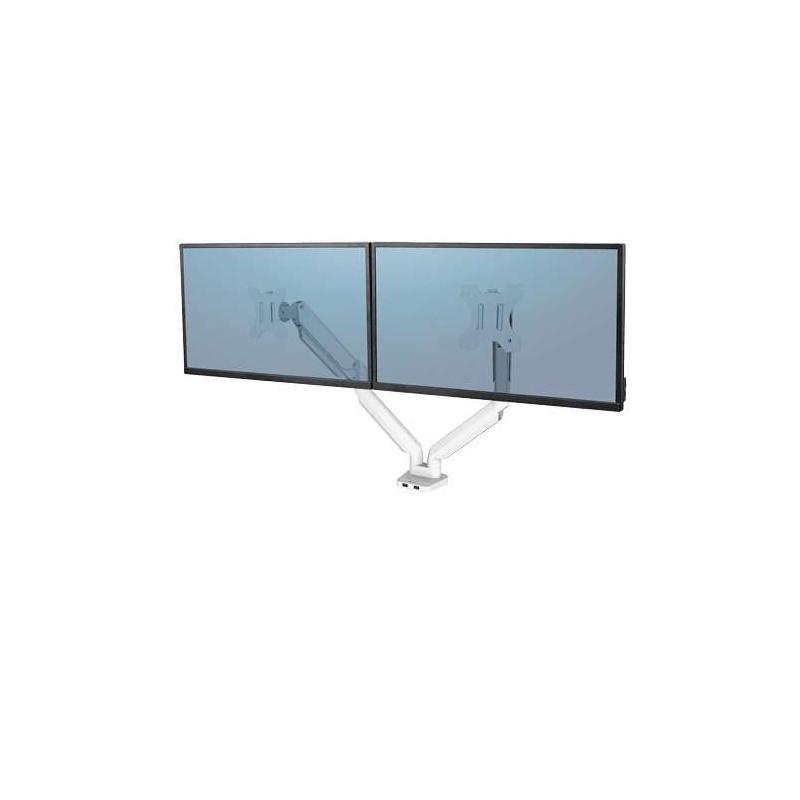 Bras porte-écrans double Fellowes Platinum Series Blanc 8056301 - 1