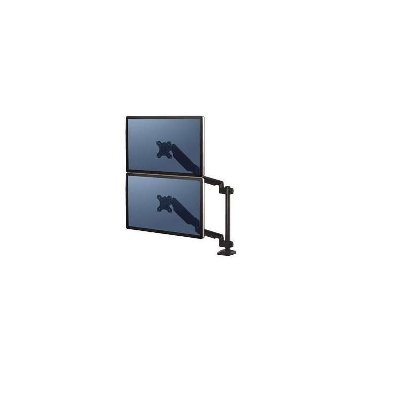 Bras porte-écrans double vertical Fellowes Platinum Series Noir 8042601 - 1