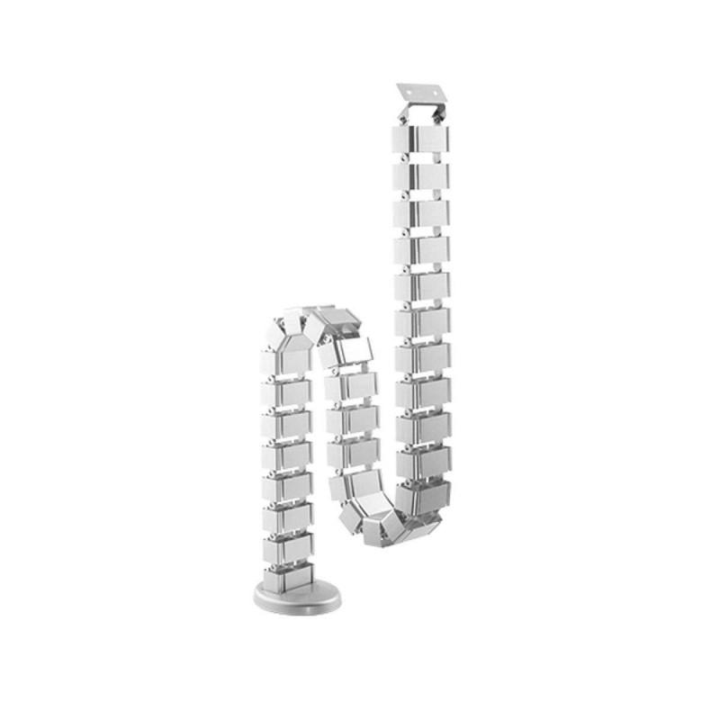 Goulotte passe-câbles verticale articulée Kimex 070-1013 Longueur 130cm Gris - 1