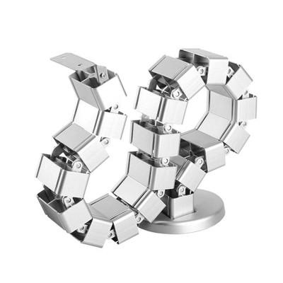 Goulotte passe-câbles verticale articulée Kimex 070-1013 Longueur 130cm Gris - 2