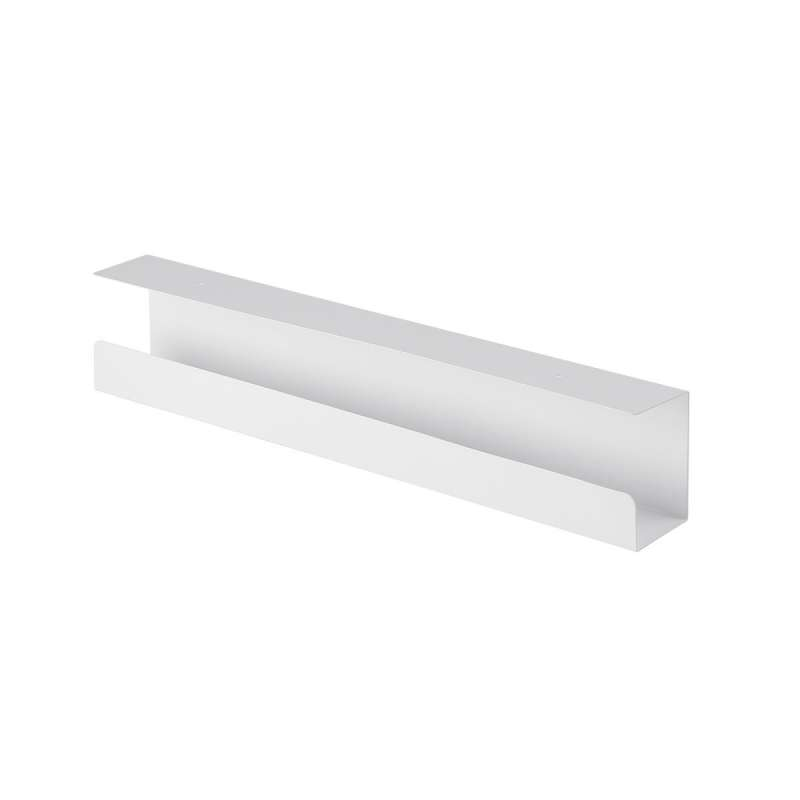 Goulotte passe-câbles horizontale de bureau Kimex 150-3103 60 cm Blanc - 1