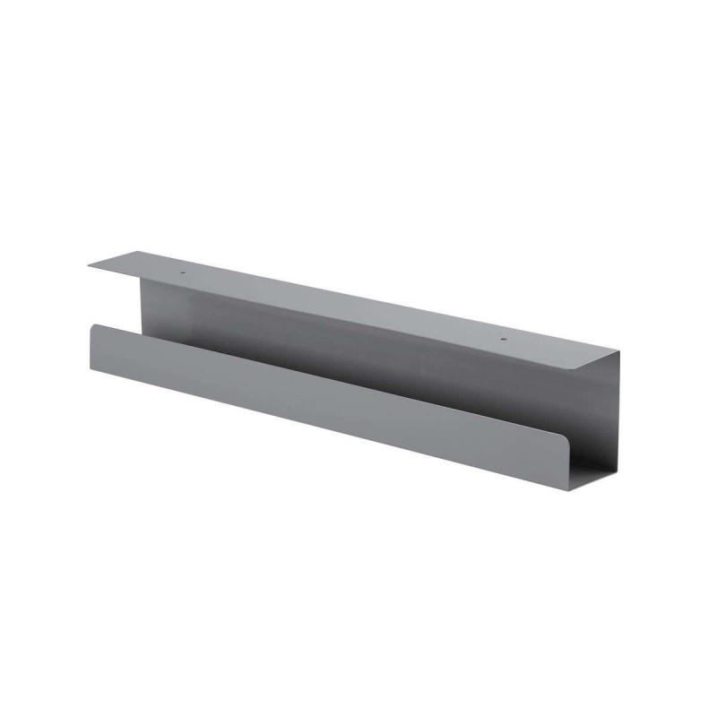 Goulotte passe-câbles horizontale de bureau Kimex 150-3101 60 cm Gris - 1