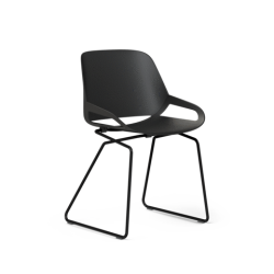 Chaise design AERIS Numo avec Châssis de dérapage 461 AERISSièges visiteurs / accueil