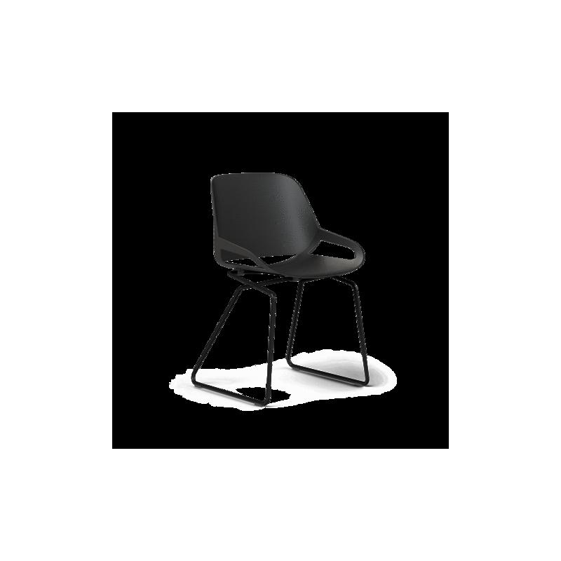 Chaise design AERIS Numo avec Châssis de dérapage - 1