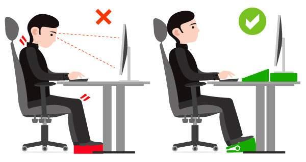 Pourquoi utiliser un repose pied ergonomique