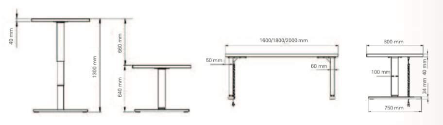 Detail element 2 pieds